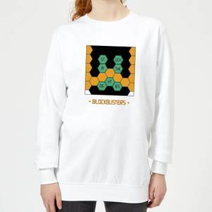 Blockbusters Stuck In The 80's Women's Sweatshirt - White