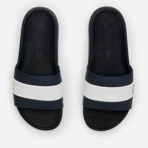 Lacoste Men's Croco Slide 120 Slide Sandals - Navy/White