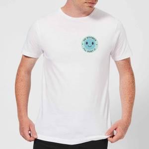 Ok Boomer Blue Smile Pocket Print Men's T-Shirt - White