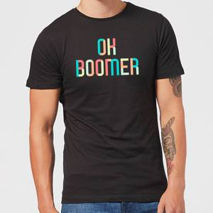 Ok Boomer Colourful Men's T-Shirt - Black
