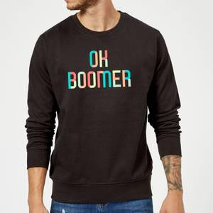 Ok Boomer Colourful Sweatshirt - Black