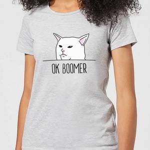 Ok Boomer Cat Women's T-Shirt - Grey