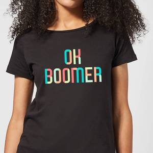 Ok Boomer Colourful Women's T-Shirt - Black