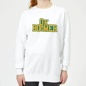 Ok Boomer College Women's Sweatshirt - White