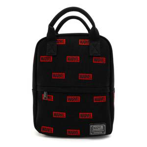 Loungefly Marvel Logo Aop Canvas Mini Backpack