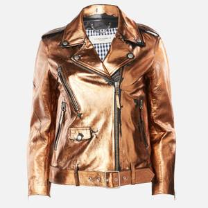 Golden Goose Deluxe Brand Women's Chiodo Dakota Biker Jacket - Distressed Bronze