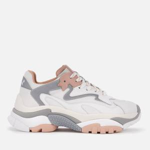 Ash Women's Addict Chunky Running Style Trainers - White/Dune/Silver