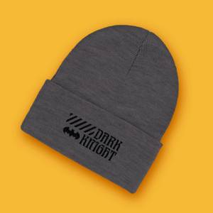 Dark Knight Embroidered Logo Beanie - Black