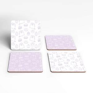Pusheen Sweet Treats Square Coaster Set