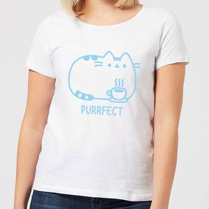 Pusheen Purrfect Cuppa Women's T-Shirt - White