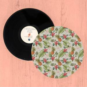 Tropical Pineapples And Flowers Turntable Slip Mat