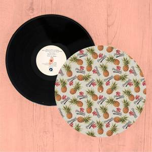 Pineapples And Text Turntable Slip Mat