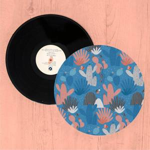 Colourful Cactus Forest Turntable Slip Mat