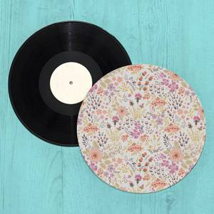 Colourful Flower Patch Turntable Slip Mat