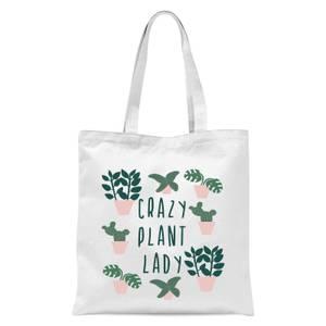 Crazy Plant Lady Tote Bag - White