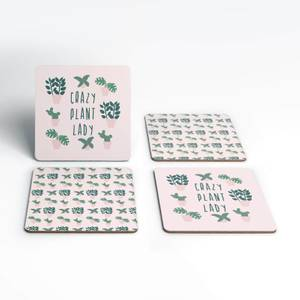 Crazy Plant Lady Coaster Set