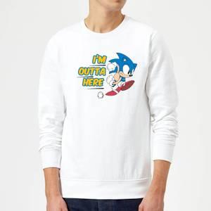 I'm Outta Here Sweatshirt - White