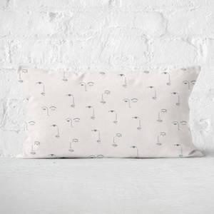 Eyes And Lips Rectangular Cushion