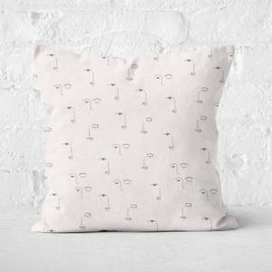 Eyes And Lips Square Cushion