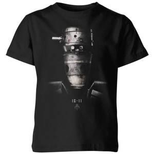 The Mandalorian IG-11 Poster Kids' T-Shirt - Black
