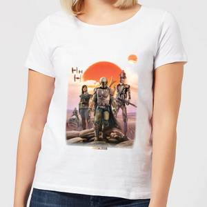 The Mandalorian Warriors Women's T-Shirt - White