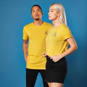 Embroidered Commander Star Trek T-shirt - Yellow