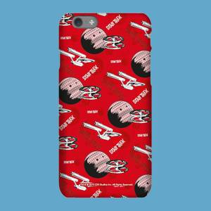 Red Retro Star Trek Phone Case for iPhone and Android