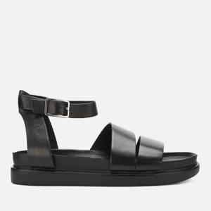 Vagabond Women's Erin Leather Flat Sandals - Black