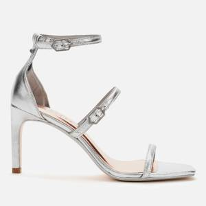 Ted Baker Women's Triam Metallic Triple Strap Sandals - Silver