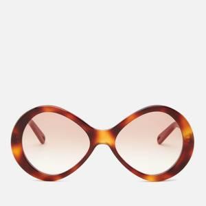 Chloé Women's Oversized Bonnie Infinity Sunglasses - Havana/Gradient Brown