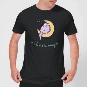 Pusheen Music Is Magic Men's T-Shirt - Black