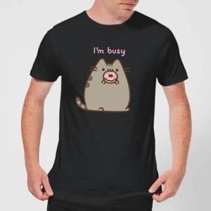 Pusheen I'm Busy Men's T-Shirt - Black
