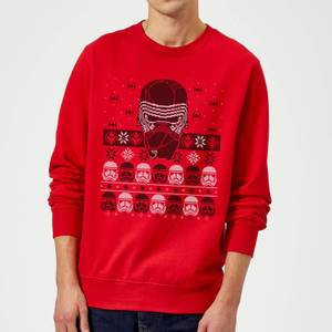 Star Wars Kylo Ren Ugly Holiday Sweatshirt - Red