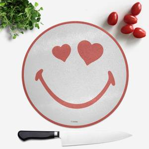 Love Heart Smiley Round Chopping Board