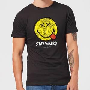 Stay Weird Upside Down Smiley Men's T-Shirt - Black