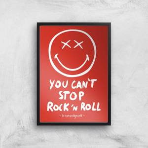 You Can't Stop Rock N Roll Giclée Art Print