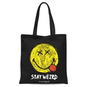 Stay Weird Tote Bag - Black