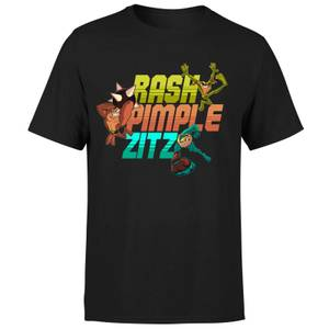 Battle Toads Rash Pimple Zitz T-Shirt - Black