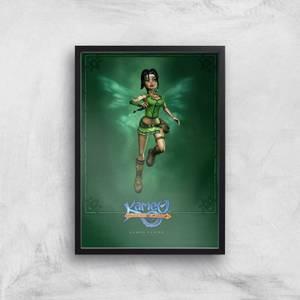 Kameo Character Art Flying A3 Giclee
