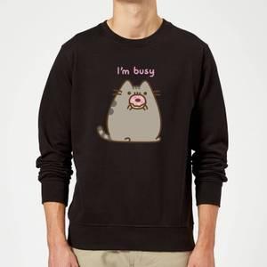 Pusheen I'm Busy Sweatshirt - Black