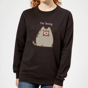 Pusheen I'm Busy Women's Sweatshirt - Black