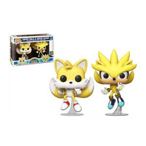 Sonic the Hedgehog Super Tails and Super Silver SDCC 2020 EXC Funko Pop! Vinyl 2-Pack
