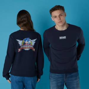 SEGA Sonic Distressed Start Screen Unisex Sweatshirt - Black