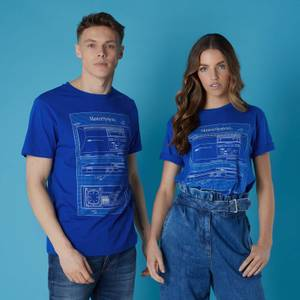T-shirt Sega MasterSystem Blueprints - Bleu - Unisexe
