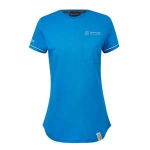 Women's Blue Pocket T-Shirt
