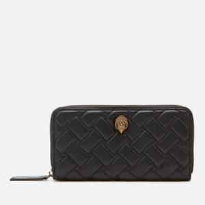 Kurt Geiger London Women's K Zip Around Wallet Eagle - Black