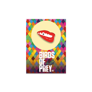 Harley Quinn Birds of Prey Collectable Pin Badge - Lips