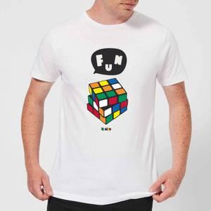 Solving Rubik's Cube Fun Men's T-Shirt - White