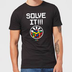 Solve It!!! Cube Glow Men's T-Shirt - Black