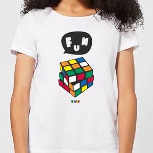 Solving Rubik's Cube Fun Women's T-Shirt - White